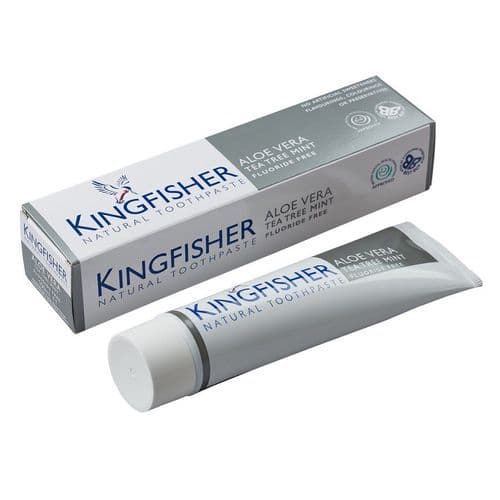 KingFisher Aloe Vera Tea Tree Mint Fluoride Free Toothpaste
